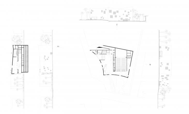 plan, section and facades